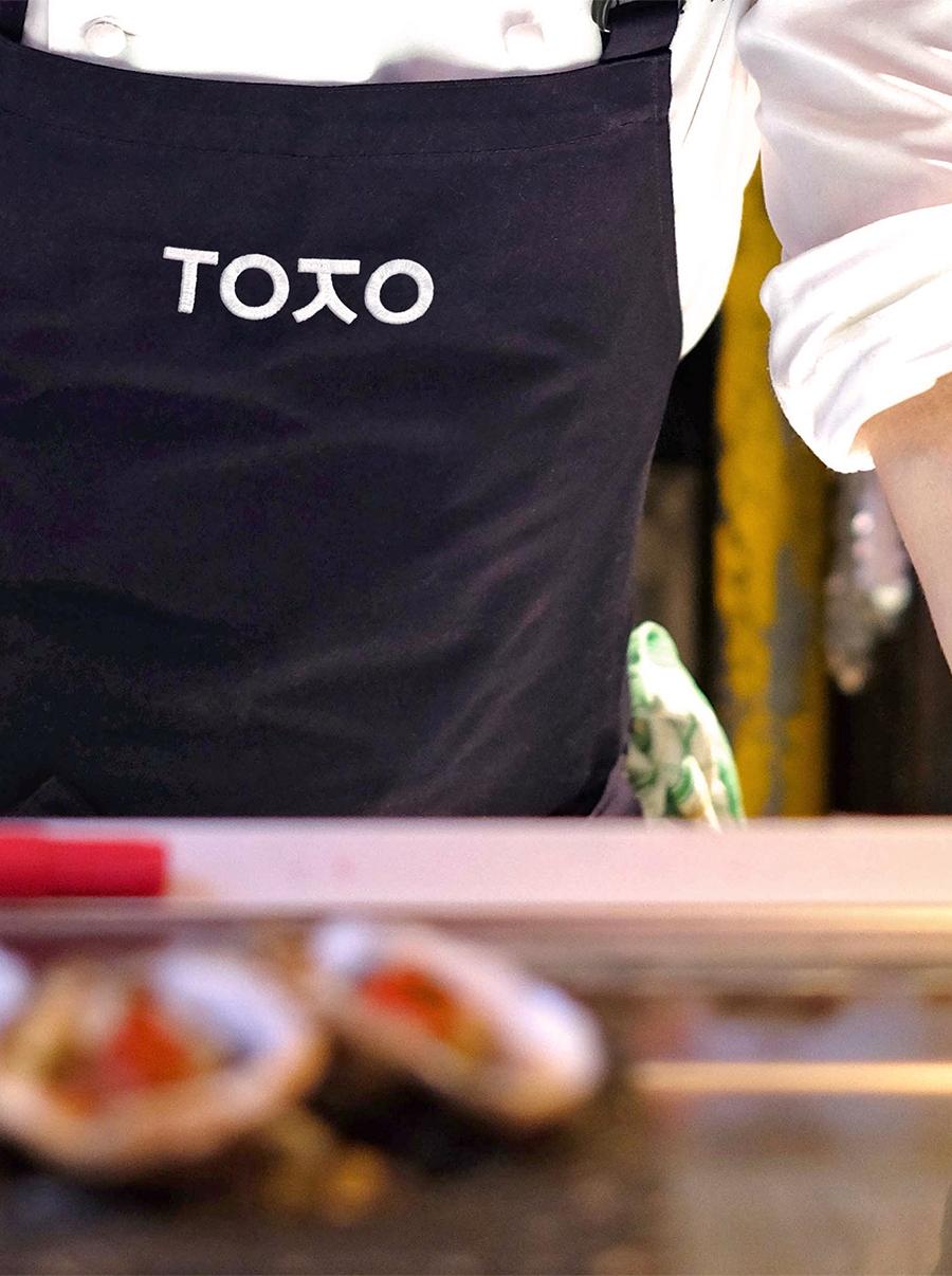 Logo apron for Toko